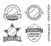 baseball emblems | Shutterstock .eps vector #456437404