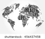 health and life world map in... | Shutterstock .eps vector #456437458