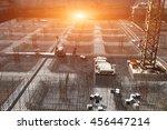 worker in the construction site ... | Shutterstock . vector #456447214