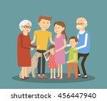 happy family portrait... | Shutterstock . vector #456447940