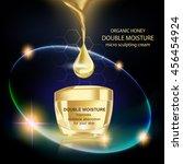 double moisture cream  improves ... | Shutterstock .eps vector #456454924