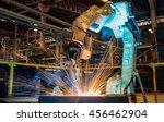 test run robot welding    | Shutterstock . vector #456462904