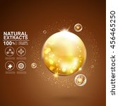 collagen serum and vitamin... | Shutterstock .eps vector #456465250