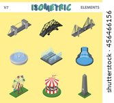 isometric elements for... | Shutterstock .eps vector #456466156