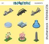 isometric elements for... | Shutterstock .eps vector #456466156