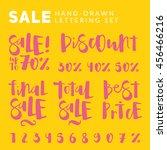"""sale"" original hand drawn... | Shutterstock .eps vector #456466216"