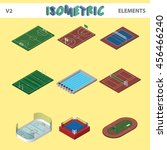 isometric sport venues  objects ... | Shutterstock .eps vector #456466240