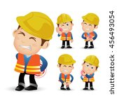 people set   profession  ... | Shutterstock .eps vector #456493054