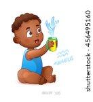 zodiac sign aquarius. african... | Shutterstock .eps vector #456495160