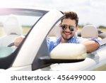 man in convertible  | Shutterstock . vector #456499000