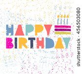 vector cute hipster cake and... | Shutterstock .eps vector #456503080
