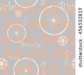 vector bicycle pattern. | Shutterstock .eps vector #456532819