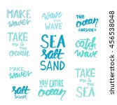 make waves. wave after wave.... | Shutterstock .eps vector #456538048