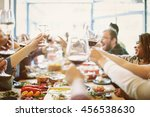 party celebration food... | Shutterstock . vector #456538630