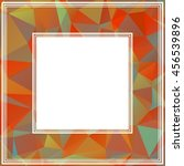 polygonal abstract background... | Shutterstock .eps vector #456539896