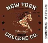 new york horse run brooklyn... | Shutterstock .eps vector #456541828