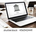 authority government pillar... | Shutterstock . vector #456542449