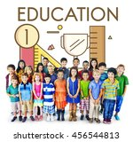 education learning studies... | Shutterstock . vector #456544813
