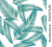 tropical leaves. floral design... | Shutterstock .eps vector #456547630