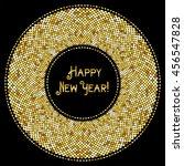 glamour golden glitter frame... | Shutterstock . vector #456547828
