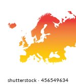 europe map. colorful orange... | Shutterstock .eps vector #456549634