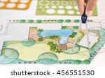 landscape architect design... | Shutterstock . vector #456551530