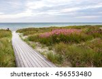 Seaside With A Boardwalk On Th...