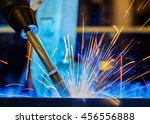 close up torch body robot...   Shutterstock . vector #456556888