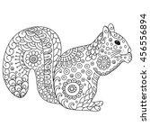 zentangle stylized squirrel....   Shutterstock .eps vector #456556894