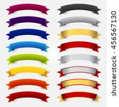 colorful ribbon set material.... | Shutterstock .eps vector #456567130