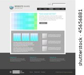 web site design template ... | Shutterstock .eps vector #45656881