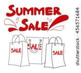 vector summer sales... | Shutterstock .eps vector #456571684
