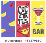 cocktail beach party. vector... | Shutterstock .eps vector #456579850
