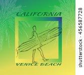 california.venice beach.summer... | Shutterstock .eps vector #456587728