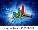 3d illustration business graph | Shutterstock . vector #456588274