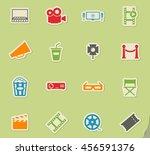cinema simply symbols for web... | Shutterstock .eps vector #456591376