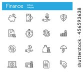 finance line icons. circulation ... | Shutterstock .eps vector #456593638