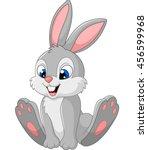 Stock vector happy bunny cartoon isolated on white background 456599968