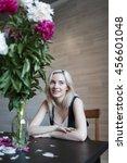portrait of beautiful girl... | Shutterstock . vector #456601048