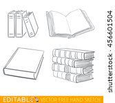 books icon set. editable vector ...   Shutterstock .eps vector #456601504