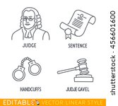 law icon set include jude... | Shutterstock .eps vector #456601600