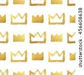 brush drawn shining golden... | Shutterstock . vector #456608638