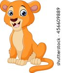 cartoon lioness isolated on... | Shutterstock .eps vector #456609889