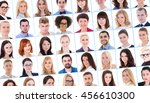 collage with many business... | Shutterstock . vector #456610300