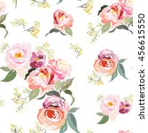 seamless floral pattern with... | Shutterstock .eps vector #456615550