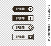 monochrome upload flat design ...