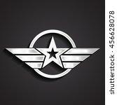 silver military star symbol  ... | Shutterstock .eps vector #456628078