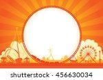 vector of amusement park... | Shutterstock .eps vector #456630034