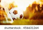 soccer ball in goal | Shutterstock . vector #456631264