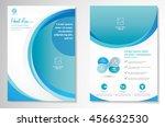vector brochure flyer design... | Shutterstock .eps vector #456632530